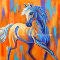 Arabian Horse Ari - acrylic by ©Theresa Paden http://dailypaintworks.com/#/mode=search=1=2013/8/1
