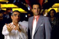 Martin Scorsese and Robert De Niro on-set Casino (1995)