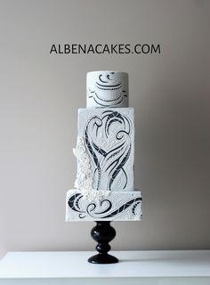 Cut Lace - Cake by Sweet Temptations-Custom Cakes by Albena www.facebook.com/albena/cakes.com