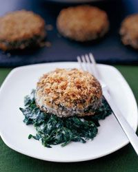 Crispy Swiss Chard Cakes with Mascarpone-creamed spinach.  I've been thinking about how good these are.