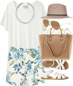 styleselection:  outfit for a summer meal by im-emma featuring a white t shirt