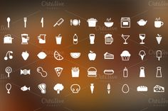 Snack Time is a set of 50 food related pictograms designed on a 32x32 pixel grid so they are made to work well at small sizes.