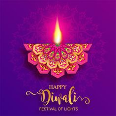 Illustration about Happy Diwali festival card with gold diya patterned and crystals on paper color Background. Happy Diwali Images Hd, Happy Diwali Pictures, Happy Diwali Wallpapers, Diwali Photos, Diwali Greetings Quotes, Diwali Wishes Messages, Happy Diwali Quotes, Greetings Images, Diwali Cards