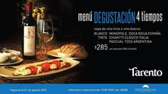 #Agenda Menú degustación en Tarento https://www.facebook.com/events/150995621901880/?utm_content=buffer36c72&utm_medium=social&utm_source=pinterest.com&utm_campaign=buffer (Si dices que vas de QueremosComer te harán 15% descuento)