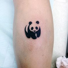 Small Simple Mens Universal Panda Symbol Tattoo