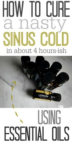 How to clear up your sinuses and breath freely after a nasty cold using essential oils! I can