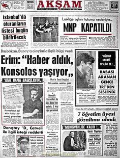 Akşam gazetesi 22 mayıs 1971