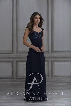 808b4bb20f Adrianna Papell 40131 Cap Sleeve Bridesmaid Dress