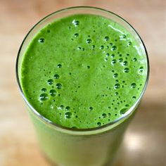 Green monster smoothie = spinach + almond milk + banana + chia seeds + protein powder + ice