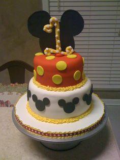 """Preston's 1st Birthday """"Mickey""""Cake"""