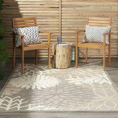 Winston Porter Weon Floral Gray Beige Indoor Outdoor Area Rug Reviews Wayfair In 2020 Indoor Outdoor Area Rugs Area Rugs Indoor Outdoor Rugs