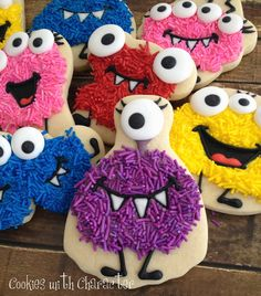 Cookies with Character: Sprinkle Monster Cookies! {Tutorial on SugarEd Productions}