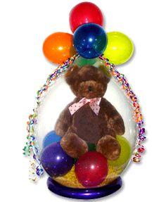 Stuffed Balloon Gifts Balloon Arrangements, Balloon Decorations, Balloon Ideas, Stuffed Balloons, Balloons And More, Valentines Presents, Balloon Gift, Bear Party, Balloon Columns