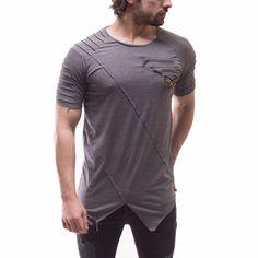 Corte Asimétrico Hombre Moda Camiseta Calce Entallado Cremallera en el pecho y detalles de rango 2830 | Ropa, calzado y accesorios, Ropa para hombre, Camisetas | eBay!