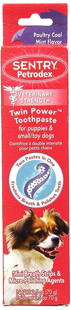 Toothpaste for Puppies SENTRY Petrodex Twin Power  and Small Dogs Poultry Cool M #Sentry