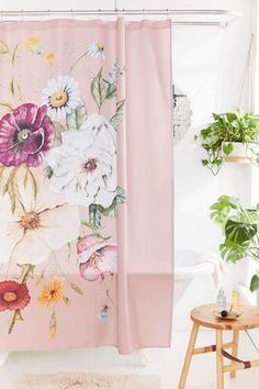 Deny Designs Shealeen Louise For Deny Wildflower Bouquet Shower Curtain - ShopStyle Floral Shower Curtains, Bathroom Shower Curtains, Shower Accessories, Shower Curtain Hooks, Affordable Home Decor, Decoration, Wild Flowers, Duvet Covers, Bouquet