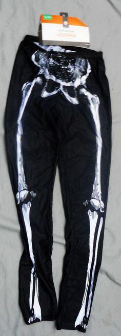 """Skeleton Leggings Women's Size S/M  64-65"""" Height 27.5-30.5"""" Waist Halloween New #Target"""