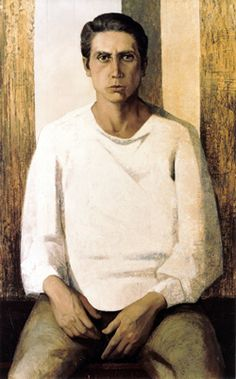 Portrait of Meu Irmao Luiz (1961) by Lydio Bandeira de Mello (b. 1929), Brazilian works in the fresco tradition (bandeirademello)