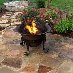 Small Garden Portable Fire Pit Garden Fire Pits Pinterest