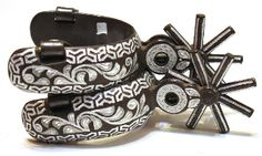 Mexican Heavy Duty Spurs available with free shipping at mroyalsaddles.com! #charro #horses #tack
