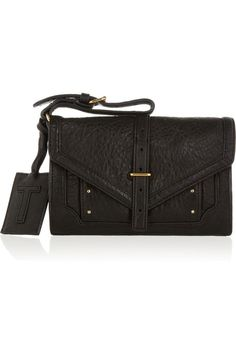 Tory Burch Dorothy textured-leather envelope clutch