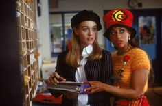 Statement hats worn by Alicia Silverstone and Stacey Dash in 'Clueless'.