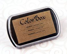 Stempelkissen - Stempelkissen ColorBox Gold ♥Groß - ein Designerstück von Silber-Pappel bei DaWanda
