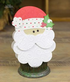 DIY Santa Shape card by Corri Garza (made with her Silhouette)