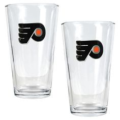 Great American Products Philadelphia Flyers 2pc Pint Ale Glass Set