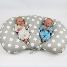 Pillow for feeding twins, pillow for feeding twins, pillow in stars, safe feeding of the proximal, gift for twins Twin Feeding Pillow, Twin Nursing Pillow, Twin Girls, Twin Babies, Twins, Twin Pram, Baby Chair, Fabric Tote Bags, Toddler Rooms