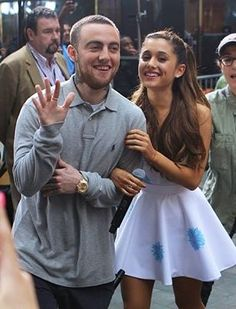 Ariana with Mac Miller 1/5
