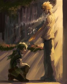 Yagi Toshinori and Midoriya Izuku