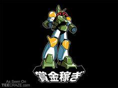 Shogun Warrior Fett T-Shirt - http://teecraze.com/shogun-warrior-fett-t-shirt/ -  Designed by sublevelstudios