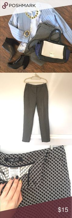 Checked black and white pants Cute fitted pants by Russian brand InCity, universal black and white pattern, sleek design. Size on the tag is Russian 40, fits S or American size 4. Worn a couple of times, like new condition. Fabric is pretty thick, not stretchy. Everything on the covershot is available, check my closet! incity Pants Ankle & Cropped
