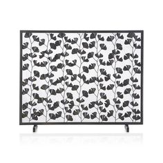 ginkgo bronze fireplace screen crate and barrel house