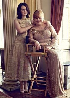 "elsiehughes: "" Sophie McShera and Lesley Nicol for Harper's Bazaar UK August 2014 "" Downton Abbey Movie, Downton Abbey Fashion, Downton Abbey Characters, Gentlemans Club, Sophie Mcshera, Mejores Series Tv, Dowager Countess, Lady Mary, Harpers Bazaar"