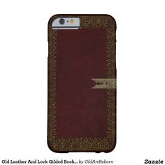 Old Leather And Lock Gilded Book Cover Barely There iPhone 6 Case