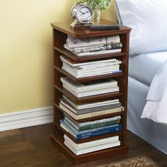 Reader's Night Stand...I need this terribly bad so that I font have piles of books on my bed side table