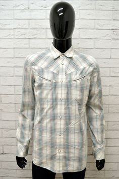 7b4d76ecb9 Camicia LEVIS Uomo Taglia Size L Maglia Shirt Man Cotone Maniche Lunghe a  Quadri #camicia
