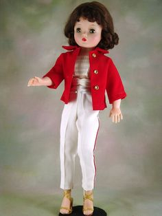 VINTAGE CISSY HTF RED AND WHITE JACKET & PANT OUTFIT