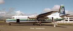 Air New Zealand's Fokker F27-Friendship was operating a Wellington-Blenheim service and was photographed at Woodbourne on 6 February 1989