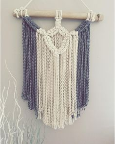 This beautiful piece is ready to go. Bamboo and natural cotton macrame. If you want it now please comment SOLD or go to our store and find it in home decor. XXx
