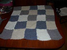 Knifty Knitter baby blanket - KNITTING
