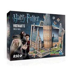 Wrebbit 3D puzzel Harry Potter Hogwarts Great Hall - 850 stukjes