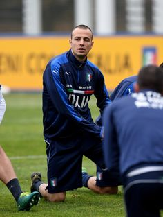 Luca Antonelli of Italy looks on during the training session at the club's training ground at Milanello on November 14, 2016 in Florence, Italy.