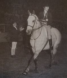 Francesca Mazella winning the Maclay at the National Horse Show in 1984. Photo by Budd.