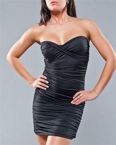NOIR by YDE Strapless Twist-Front Dress #wearcanadian