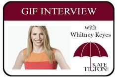 Gif Interview with Author Whitney Keyes