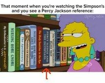 Percy Jackson reference on the Simpsons
