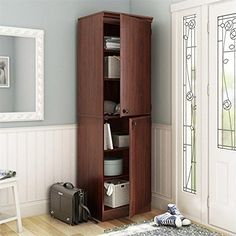 Special Offers - South Shore Morgan Narrow Storage Cabinet Royal Cherry - In stock & Free Shipping. You can save more money! Check It (March 27 2016 at 12:10AM) >> http://storagebenchusa.net/south-shore-morgan-narrow-storage-cabinet-royal-cherry/